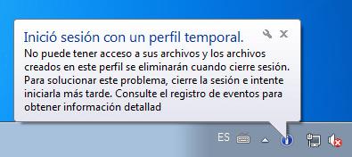 Dónde estan mi cosas? Windows 7 Perfil Temporal
